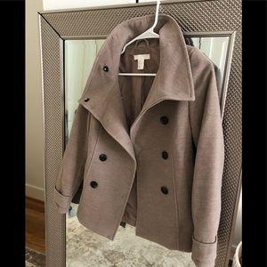 H&M Khaki Peacoat, LIKE NEW!